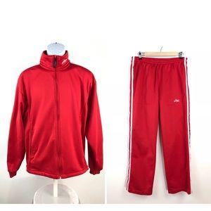 Asics 2 Piece Athletic Jacket/Pant Set Men's Small